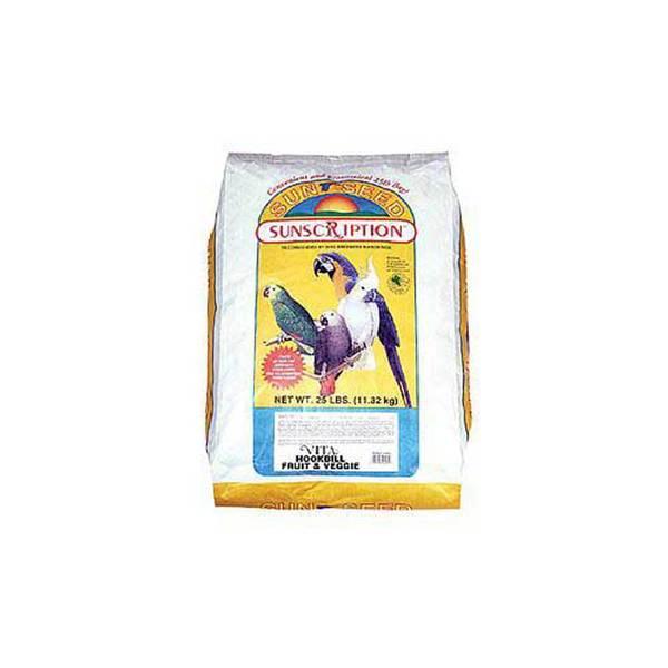 Sun Seed Company Hookbill Vita Fruit & Veggie Mix 25Lb