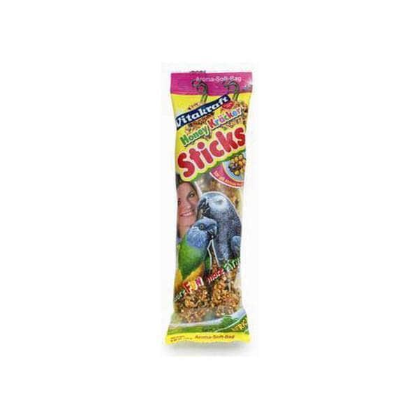 Vitakraft African Large Parrot Honey Stix 2Pk See - Through Packaging