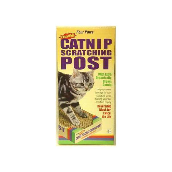 Four Paws Pet Products Cardboard Scratching Post X - Wide With Catnip