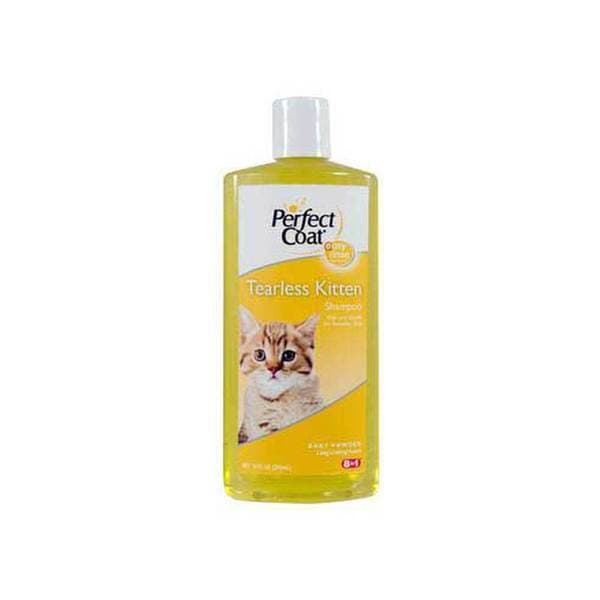8 In 1 Pet Products Perfect Coat Tearless Kitten Shampoo - Baby Powder 10 Oz