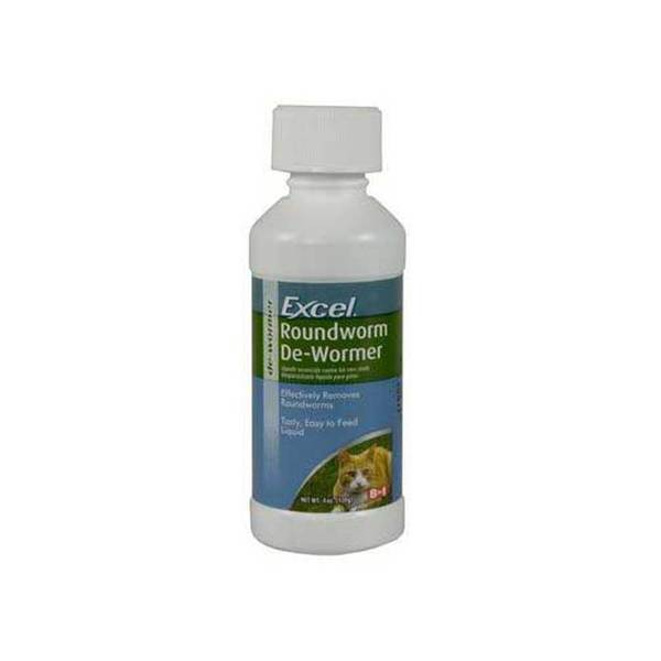 8 In 1 Pet Products Excel Roundworm De - Wormer 4 Oz