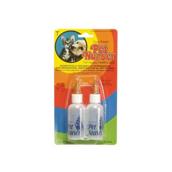 Four Paws Pet Products Nurser Bottle Two Bottle Kit 2Oz