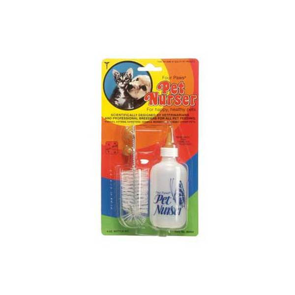 Four Paws Pet Products Nurser Bottle & Brush Kit 4Oz