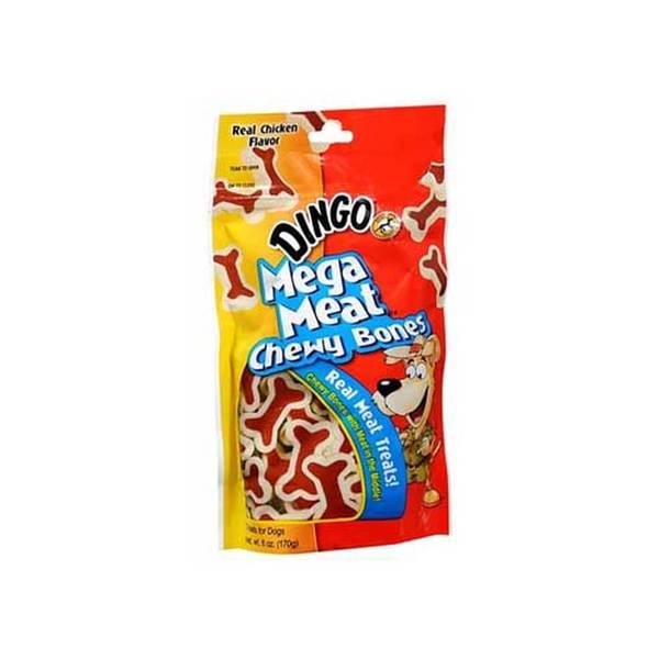 Dingo Brand Dingo Mega Meat Chewy Bones 4Oz.