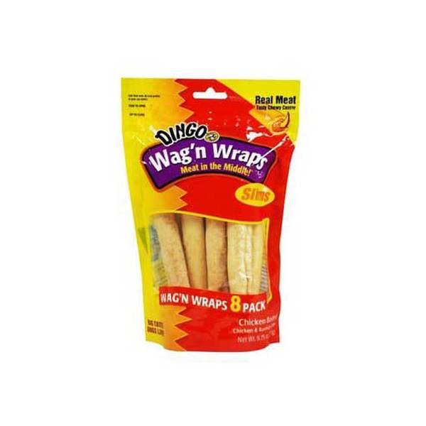 Dingo Brand Wag'N Wraps Chicken Slim 8 Pk - 9.75 Oz