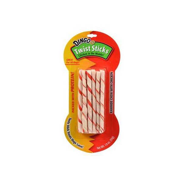 Dingo Brand Dingo Twist Sticks Chicken 10 Count