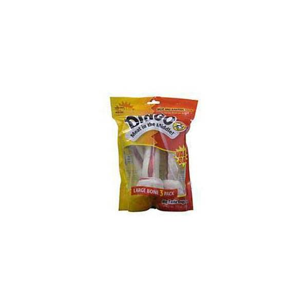 Dingo Brand Dingo White Bone Value Bag - Large - 4 Count