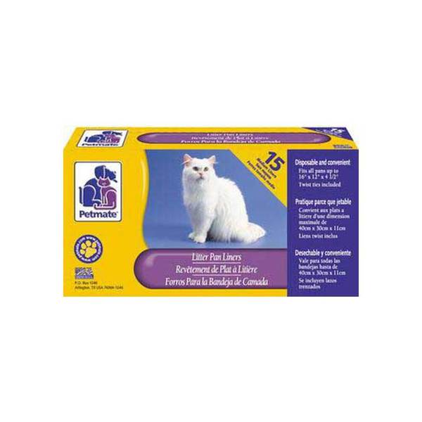 Dosckocil (Petmate) Litter Pan Liner Small/Medium 15Ct