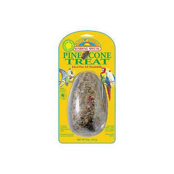 Sun Seed Company Large Hookbill Pine Cone Treat 5Oz (Card)
