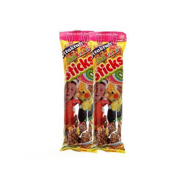 Vitakraft Cockatiel Kiwi Glazed Sticks 2Pk