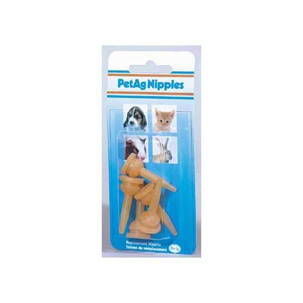 Pet Ag Products Elongated Nursing Nipples 5Pk