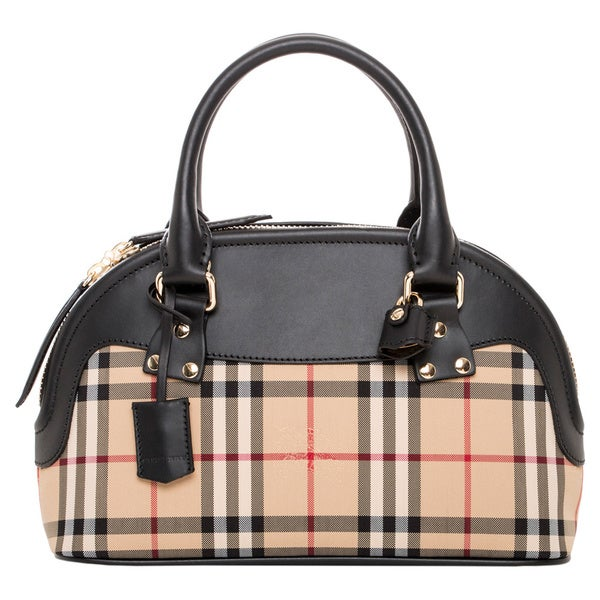 Burberry Small Horseferry Check Bloomsbury Satchel