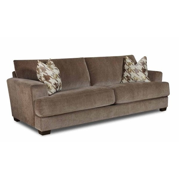 Extra Long Leather Sofa For Sale: Made To Order Bauhaus Coble Deluxe Taupe Extra Long Sofa