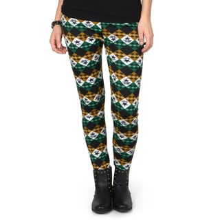 Hailey Jeans Co. Junior's Checker Print Faux Fur Lined Leggings