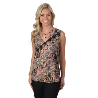 Journee Collection Women's Layered Sleeveless V-neck Top