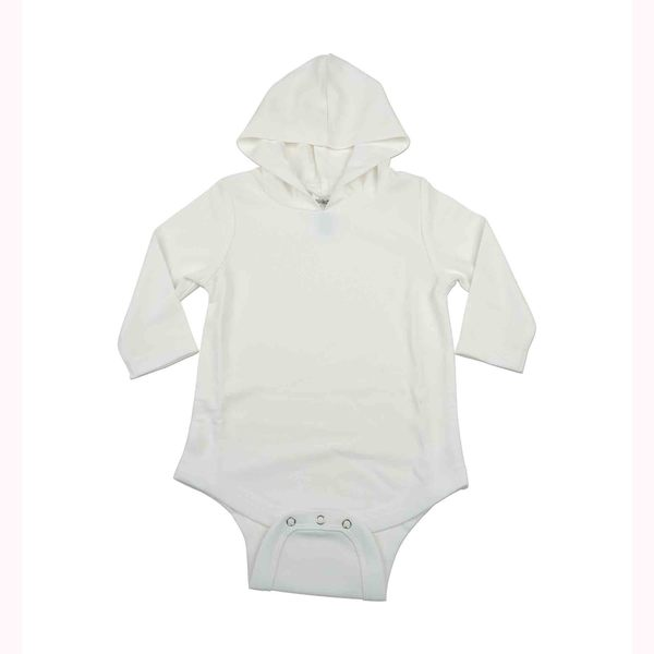 Kidz Stuff UV Sun Protectant Hooded Onesies, White, 0-3 Months
