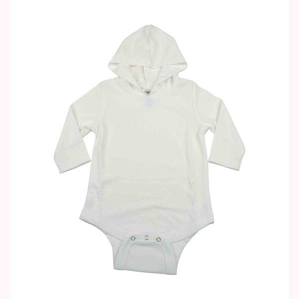 Kidz Stuff UV Sun Protectant Hooded Onesies, White, 0-3 Months