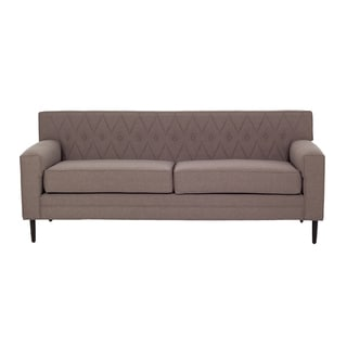 Inncdesign Nicolette Brown Quilted Sofa
