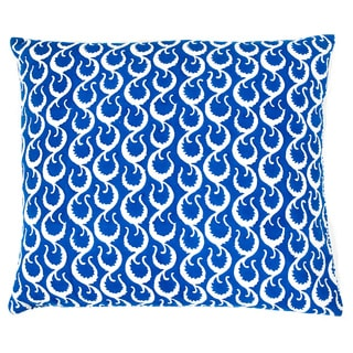 Trendsage Moon Hand-block Printed Sqaure Accent Pillow