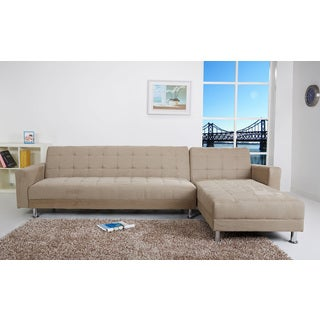Frankfort Stone Finish Convertible Sectional Sofa Bed