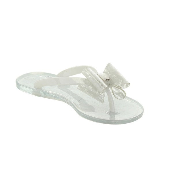 Jelly Beans Lychi Kid's Big Girl Flower Deco Flip Flop Sandals