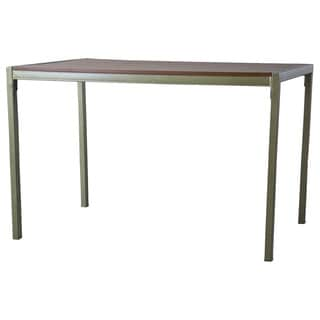 Fiore Wood and Metal Transitional Dining Table