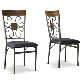 Fiore Wood/ Metal Transitional Dining Chair (Set of 6)