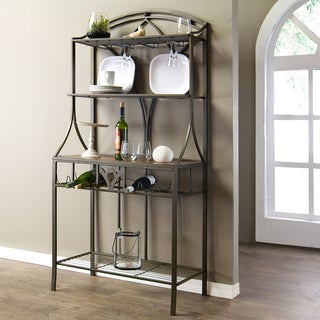 Baxton Studio Margaux Wood and Metal Transitional Baker's Rack