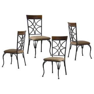 Ibiza Wood And Metal Contemporary Dining Chair (Set of 4)