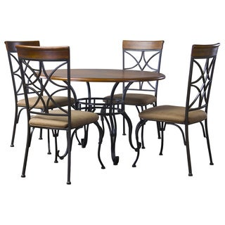 Ibiza Wood And Metal 5-Piece Contemporary Dining Set