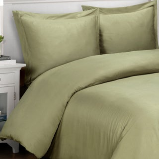 500 Thread Count Solid Cotton 3-piece Duvet Cover Set