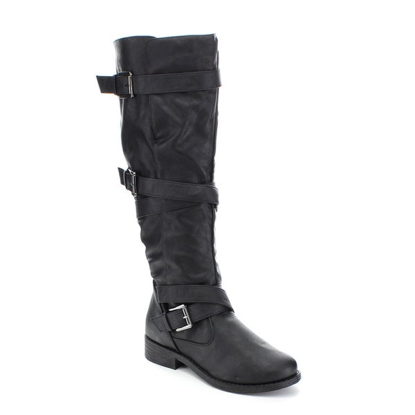 BAMBOO JAGGER-06A Women's Knee High Riding Boots