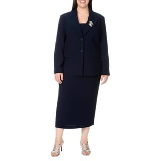 Giovanna Signature Women's Plus Size 2-piece Skirt Suit