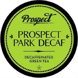 """Prospect Tea """"Prospect Park Tea DECAF"""" Green Tea Single Serve Tea K-Cups"""