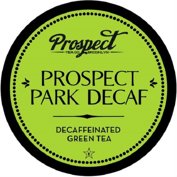 "Prospect Tea ""Prospect Park Tea DECAF"" Green Tea Single Serve Tea K-Cups"