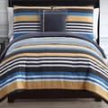 Finn Reversible Stripe Cotton 4-piece Comforter Set
