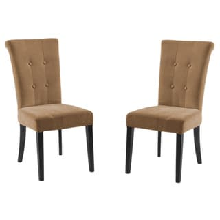 Tuxford Tobacco Fabric Tufted Side Chairs (Set of 2)