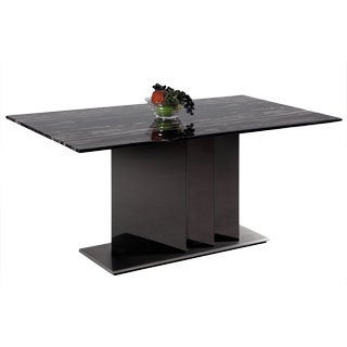 Somette Oriana Two-Toned Marble Dining Table