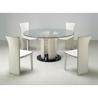 Somette Diedre Fiber Glass Round Dining Table