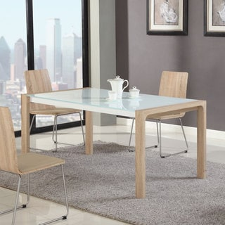 Somette Amelia Light Oak 63-inch Extendable Dining Table