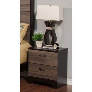 Sandberg Furniture Nova Two-tone 2-drawer Nightstand
