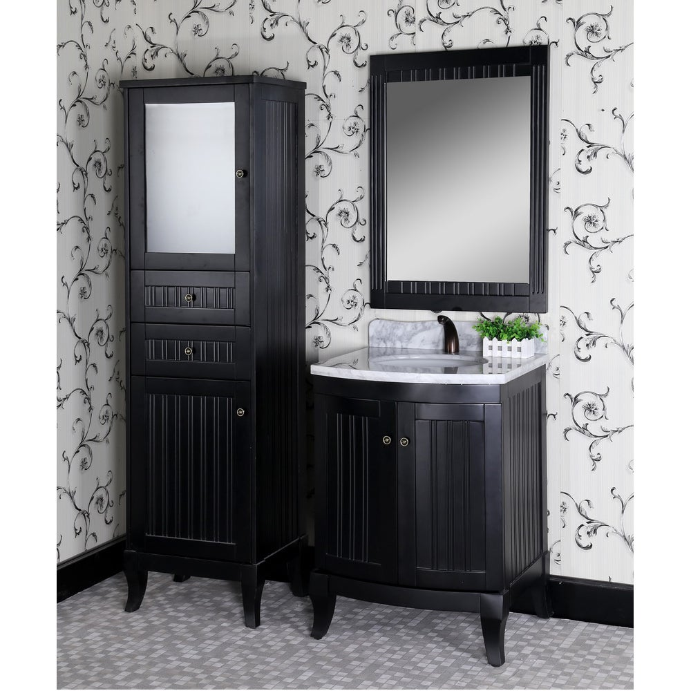 Overstock.com Carrara 4-piece 27-inch White Marble Top Single Sink Bathroom Vanity Set at Sears.com