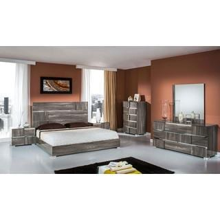 Modrest Picasso Modern Grey Lacquer Bedroom Set
