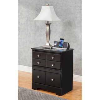 Sandberg Furniture Elena Black Nightstand