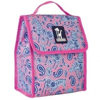 Wildkin Watercolor Ponies Pink Munch 'n Lunch Bag