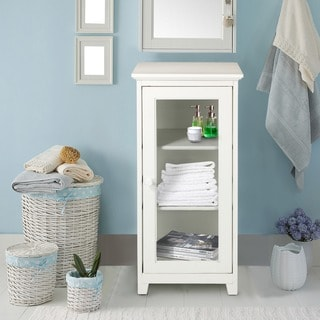 3-shelf Glass Door Folding Cabinet