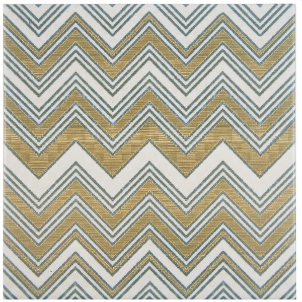 SomerTile 7 3/4 x 7 3/4-inch Puccini Wave Ceramic Floor and Wall Tile (Case of 25)