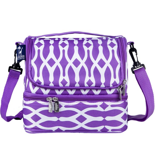 Wildkin Purple/ White Wishbone Double Decker Lunch Bag