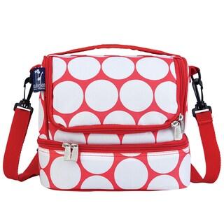 Wildkin Big White Dot/ Red Double Decker Lunch Bag