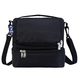 Wildkin Rip-Stop Black Double Decker Lunch Bag